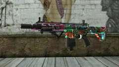 Graffiti Assault rifle v2 para GTA San Andreas