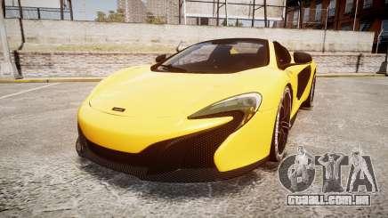 McLaren 650S Spider 2014 [EPM] Michelin v4 para GTA 4