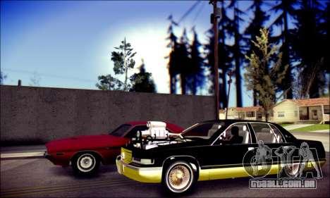 Cadillac Fleetwood 1993 Lowrider para GTA San Andreas traseira esquerda vista
