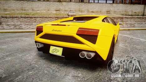 Lamborghini Gallardo 2013 Honoka Kousaka para GTA 4 traseira esquerda vista