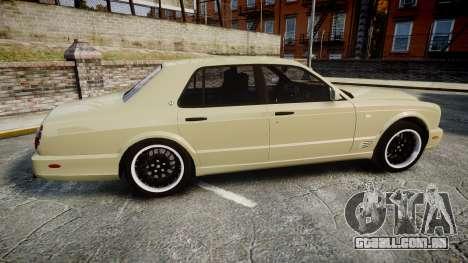 Bentley Arnage T 2005 Rims1 Black para GTA 4 esquerda vista