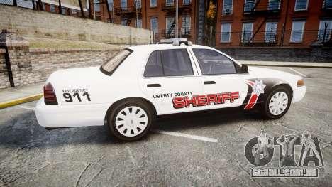 Ford Crown Victoria LC Sheriff [ELS] para GTA 4 esquerda vista