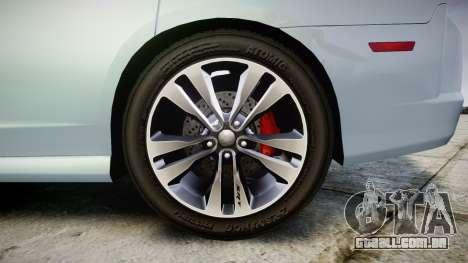 Dodge Charger SRT8 para GTA 4 vista de volta