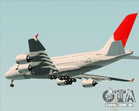 Airbus A380-800 Japan Airlines (JAL) para GTA San Andreas vista traseira