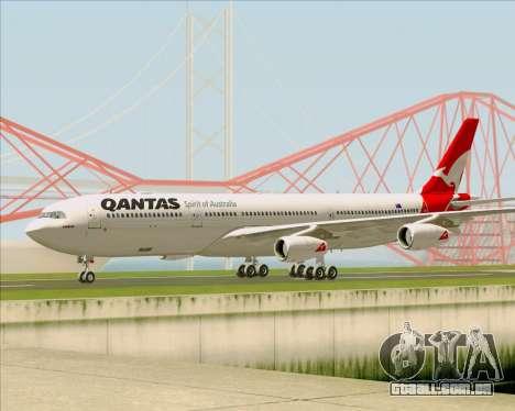 Airbus A340-300 Qantas para GTA San Andreas traseira esquerda vista