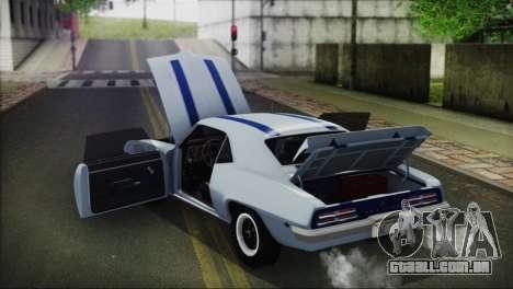 Pontiac Firebird Trans Am Coupe (2337) 1969 para vista lateral GTA San Andreas