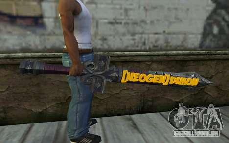 Sword from World of Warcraft para GTA San Andreas terceira tela