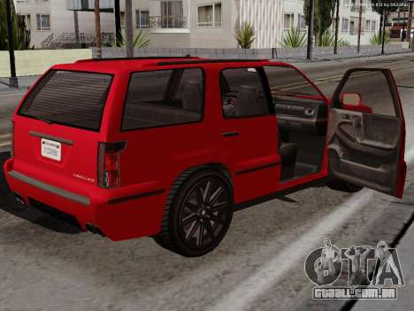Albany Cavalcade para GTA San Andreas vista traseira
