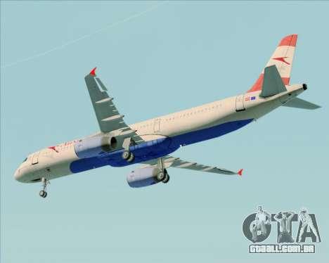 Airbus A321-200 Austrian Airlines para GTA San Andreas vista interior