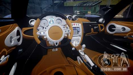 Pagani Huayra 2013 Carbon para GTA 4 vista interior