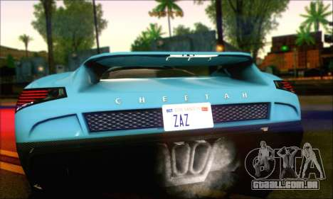 Grotti Cheetah (IVF) para GTA San Andreas traseira esquerda vista