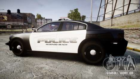 Dodge Charger 2014 Redondo Beach PD [ELS] para GTA 4 esquerda vista