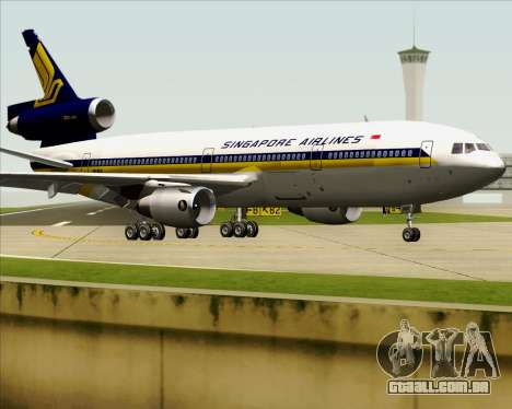 McDonnell Douglas DC-10-30 Singapore Airlines para vista lateral GTA San Andreas