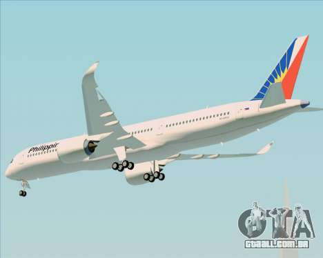 Airbus A350-900 Philippine Airlines para GTA San Andreas vista traseira