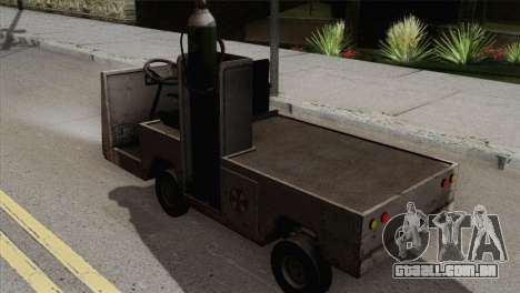 Umbrella Cart para GTA San Andreas esquerda vista