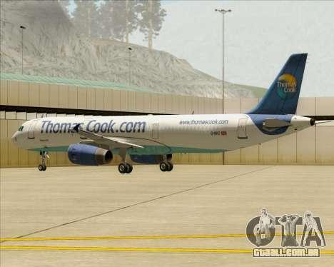 Airbus A321-200 Thomas Cook Airlines para o motor de GTA San Andreas