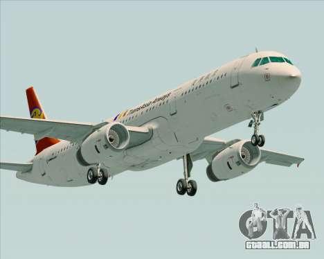 Airbus A321-200 TransAsia Airways para GTA San Andreas esquerda vista