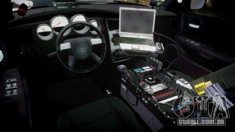 Dodge Charger 2010 LC Sheriff [ELS] para GTA 4 vista de volta