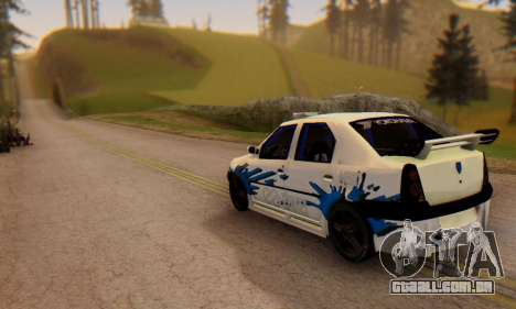 Dacia Logan Tuning para GTA San Andreas esquerda vista