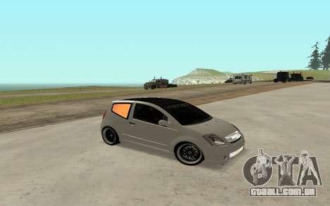 Citroen C2 para GTA San Andreas vista direita