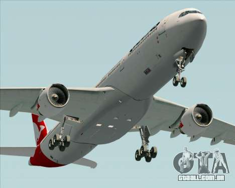 Airbus A330-300 Qantas (New Colors) para GTA San Andreas vista direita