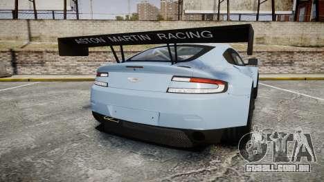 Aston Martin Vantage GTE [Updated] para GTA 4 traseira esquerda vista