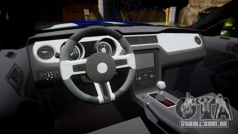 Ford Mustang GT 2014 Custom Kit PJ4 para GTA 4 vista interior