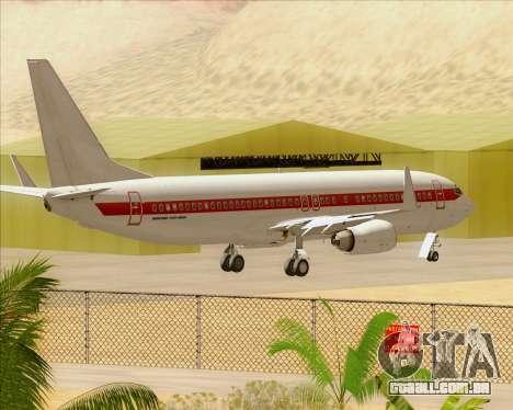 Boeing 737-800 EG&G - Janet para vista lateral GTA San Andreas