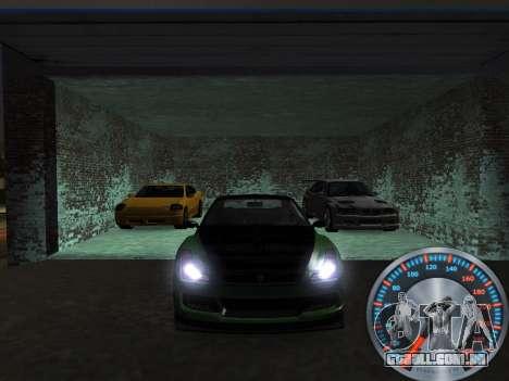 Clássico metal velocímetro para GTA San Andreas terceira tela
