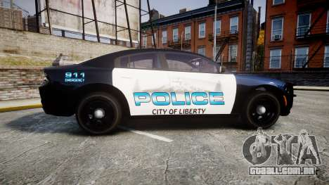 Dodge Charger 2015 City of Liberty [ELS] para GTA 4 esquerda vista