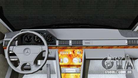 Mercedes-Benz w124 para GTA San Andreas traseira esquerda vista