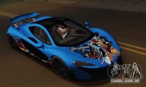 McLaren P1 Black Revel para GTA San Andreas vista direita