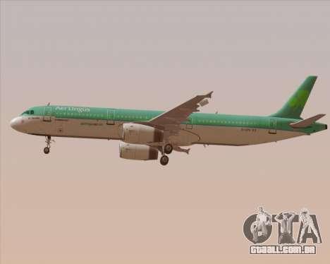 Airbus A321-200 Aer Lingus para as rodas de GTA San Andreas