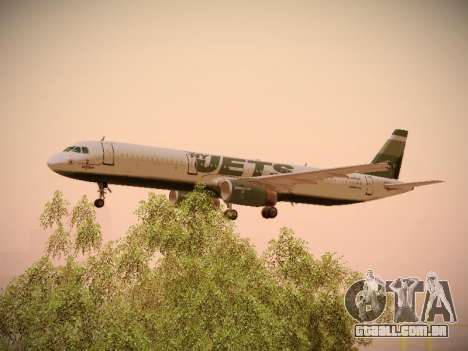 Airbus A321-232 jetBlue NYJets para GTA San Andreas vista inferior