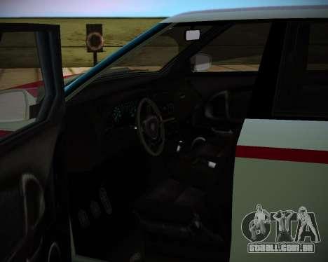 Huntley S para GTA San Andreas traseira esquerda vista
