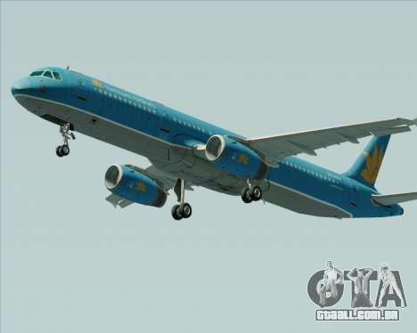 Airbus A321-200 Vietnam Airlines para GTA San Andreas esquerda vista