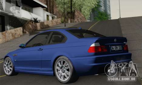 BMW E46 M3 para GTA San Andreas esquerda vista