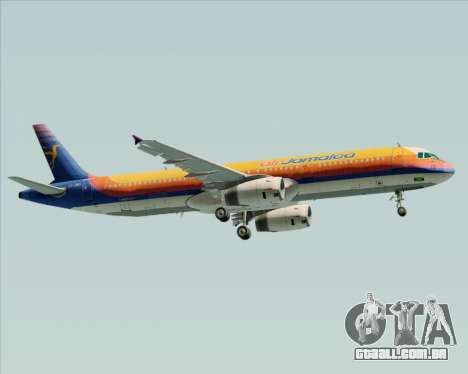 Airbus A321-200 Air Jamaica para vista lateral GTA San Andreas