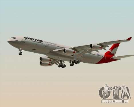 Airbus A340-300 Qantas para GTA San Andreas esquerda vista