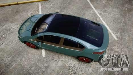 Chevrolet Volt 2011 v1.01 rims2 para GTA 4 vista direita