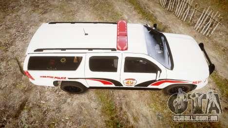 Chevrolet Suburban 2008 Hebron Police [ELS] Red para GTA 4 vista direita
