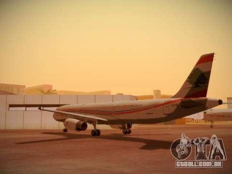 Airbus A321-232 Middle East Airlines para GTA San Andreas traseira esquerda vista