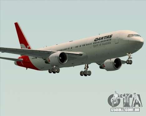 Boeing 767-300ER Qantas (Old Colors) para GTA San Andreas vista inferior