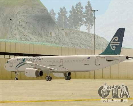 Airbus A321-200 Air New Zealand para as rodas de GTA San Andreas