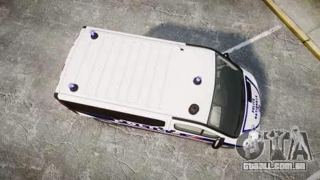 Renault Trafic Police Nationale para GTA 4 vista direita