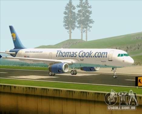 Airbus A321-200 Thomas Cook Airlines para GTA San Andreas vista direita