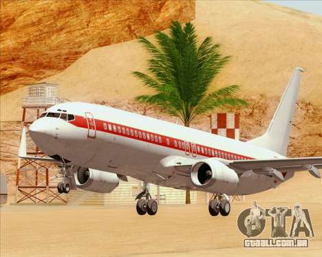 Boeing 737-800 EG&G - Janet para GTA San Andreas vista inferior