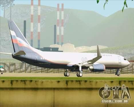 Boeing 737-8LJ Aeroflot - Russian Airlines para GTA San Andreas vista inferior