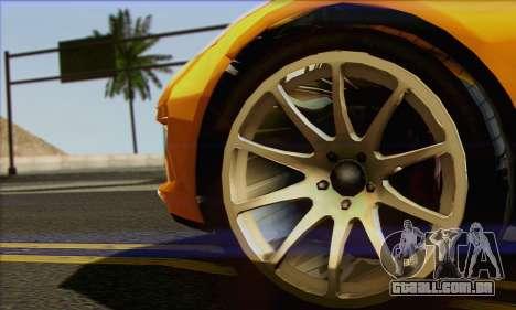 Invetero Coquette para GTA San Andreas traseira esquerda vista