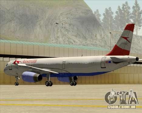Airbus A321-200 Austrian Airlines para GTA San Andreas vista inferior